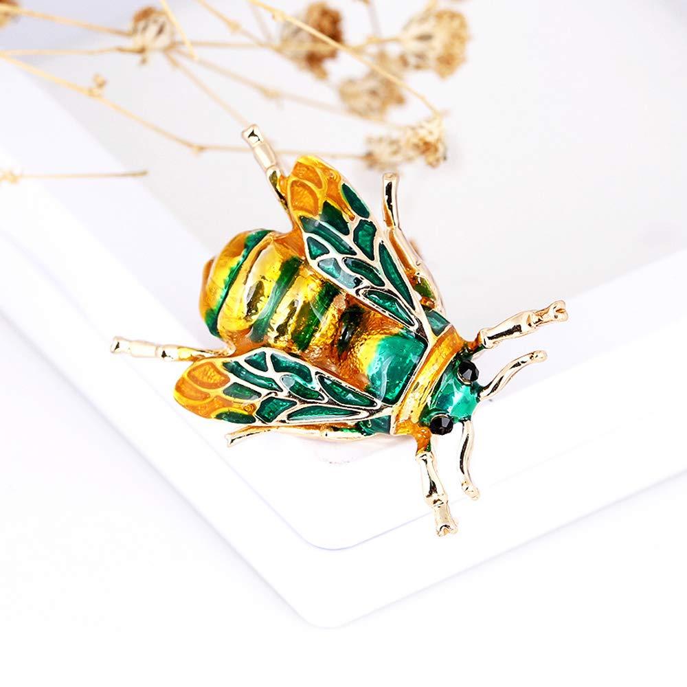 CAILI 3 pcs Broche Abeilles jaune + blanc + vert Broche Insecte Vintage Broche Goutte /à Goutte Personnalis/ée Accessoires Parfaits pour Hommes et Femmes