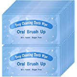 UNIQUE2U 100 pcs Textured Disposable Fresh Breath Deep Cleaning Teeth Wipes Finger Brush Teeth Wipes Oral Brush Finger Brush