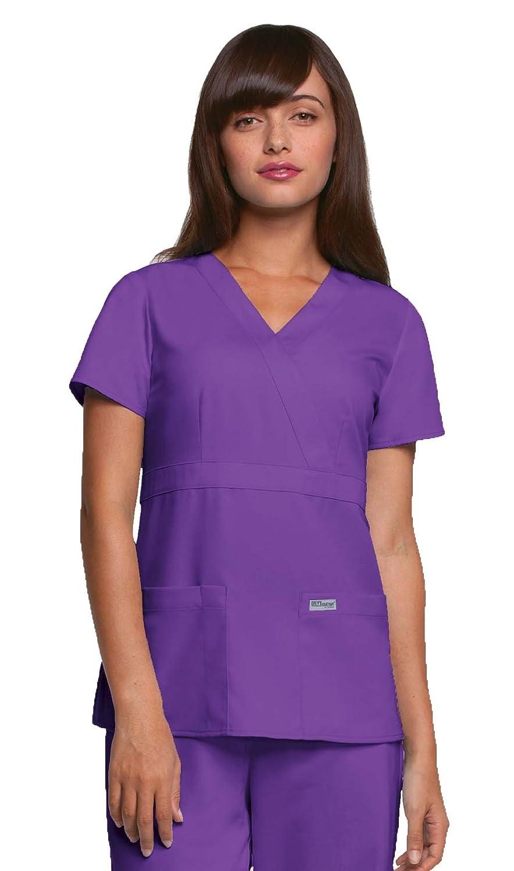 Amazon.com: Barco Uniforms Greys Anatomy Mock Wrap Top: Clothing