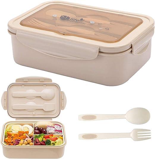 BESTZY Fambrera Infantil Lunch Box Bento Box Sostenible para Niños ...