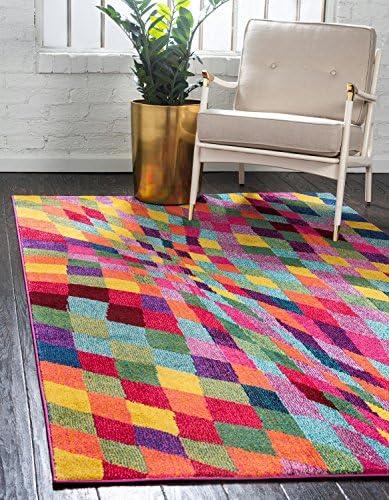Unique Loom Estrella Collection Colorful Abstract Multi Area Rug 8' 0 x 11' 0