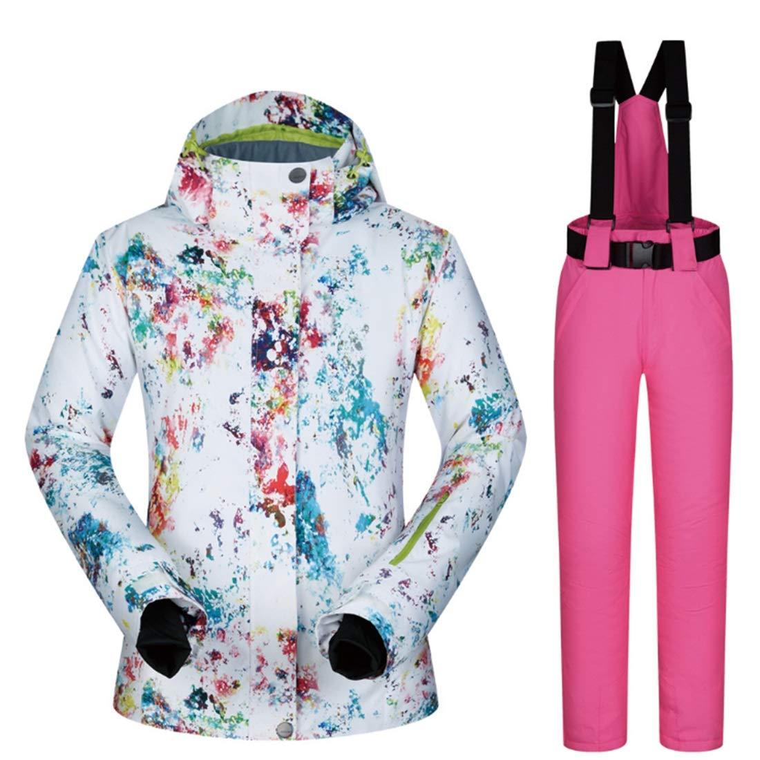 UICICI Damen Mountain Waterproof Ski Jacke für Regen Schnee Outdoor Wandern