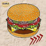 Summer Round Burger Beach Shawl Scarf Picnic Mat