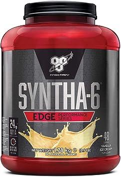BSN Nutrition Syntha 6 Edge Whey Protein Isolate, Proteinas para Masa Muscular, Suplementos Deportivos en Polvo con Proteinas Whey, Helado de ...