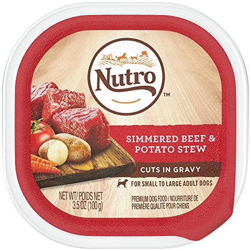 Nutro Wet Dog Food Cuts in Gravy Simmered Beef & Potato Stew, (24) 3.5 oz. Trays