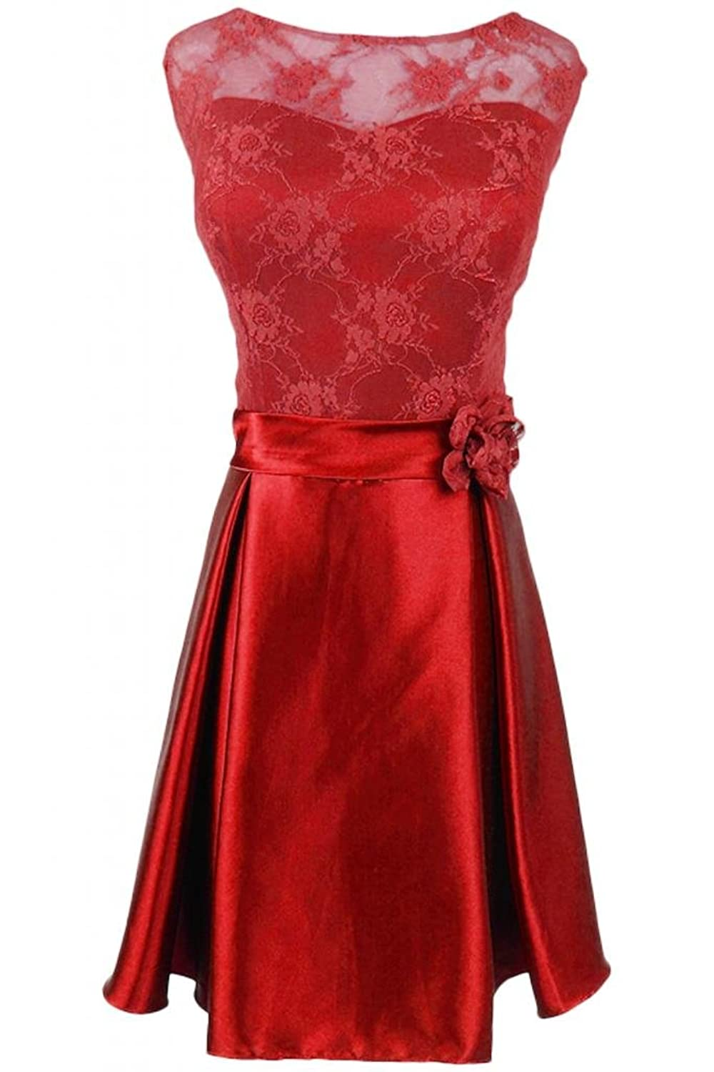 Sunvary Elegant Bateau Neckline Evening Dress Short Prom Party Dresses Pageant Gowns Mother of the Bride Dress