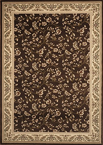 Rugshop Floral Transitional Area Rug 2' x 3' Brown ()