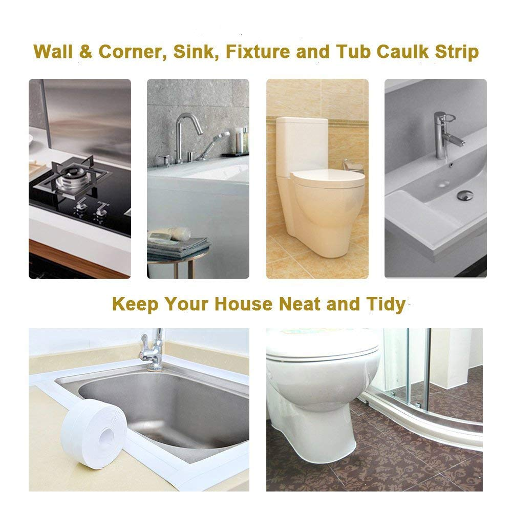 Amazon.com: Tub and Wall Sealing Caulk Strip Wall and Corner Self ...
