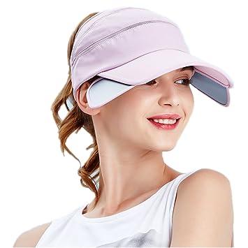 JYSPORT Summer Sun Hat Sports Visor Hat Women s Empty Top Tennis Hat Quick  Dry Cap Ladies 958f0d5582f