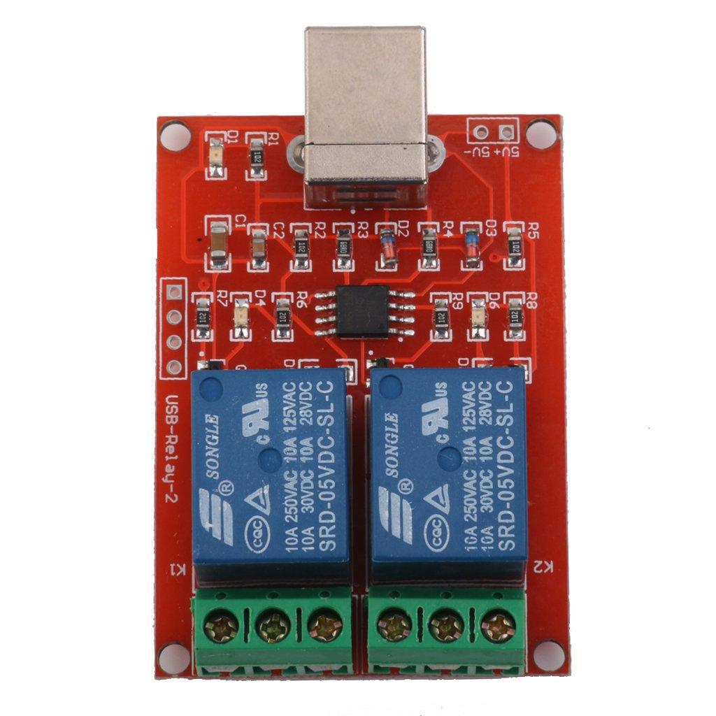 Interruptor De Control Usb 5v 2 Channal Modulo De Interruptor De Control De La Computadora Modulo De Rele: Amazon.es: Electrónica