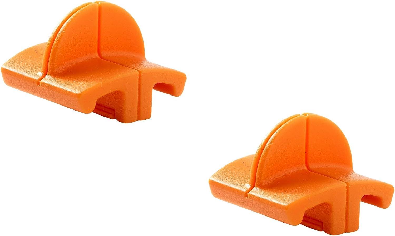 Original Fiskars Cuchillas de repuesto para máquinas de corte de papel, 2 unidades, para corte recto, High Profile TripleTrack, Naranja, 1003904