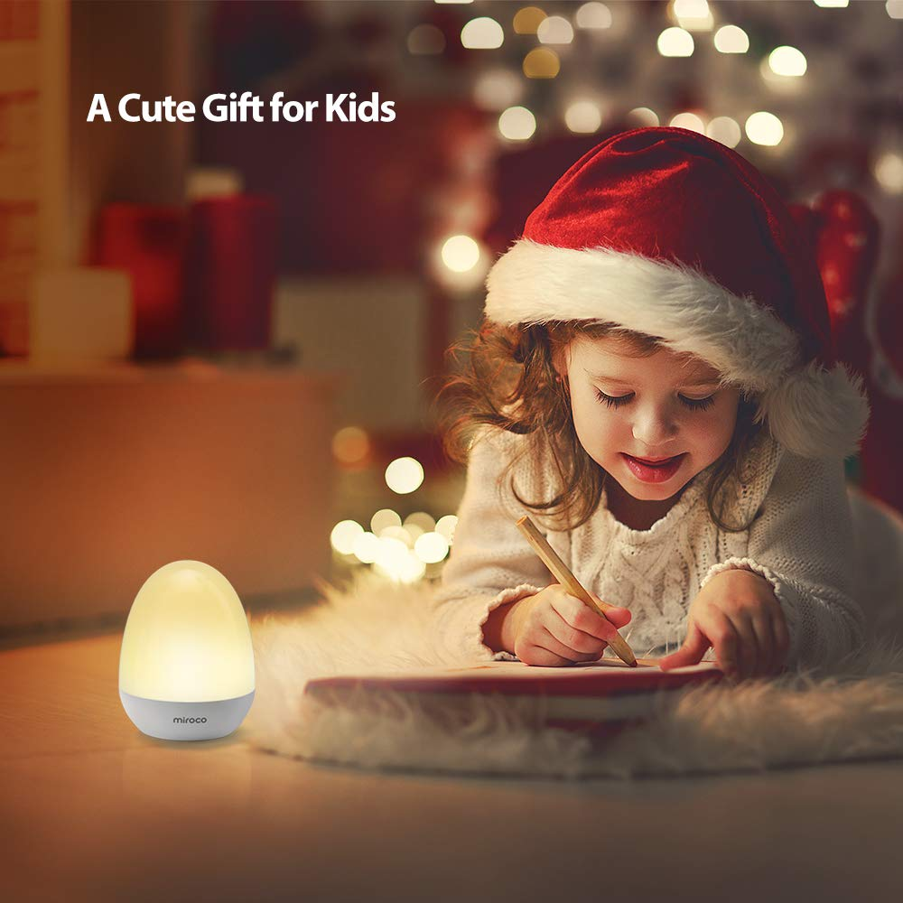 Miroco Night Lights for Kids, LED Baby Nightlight Breastfeeding Light 100% Toddler Safe, Touch Lamp USB Bedside Lamp Dim Nursery Lamp Diaper Changing Night Light, Soft Eye Caring, Timer Setting by Miroco (Image #8)
