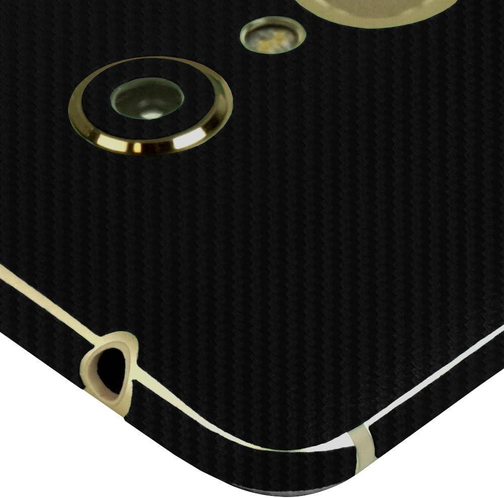 Full Coverage TechSkin with Anti-Bubble Clear Film Screen Protector Axon 7 Premium Edition Skinomi Black Carbon Fiber Full Body Skin Compatible with ZTE Axon 7