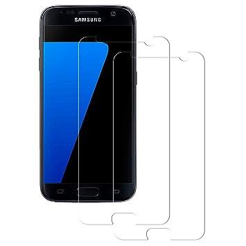 POOPHUNS Samsung Galaxy S7 Panzerglas Schutzfolie, 2 Stück, 9H Härte, Anti-Öl, Anti-Kratzer, Anti-Fingerabdruck, Gehärtetem D