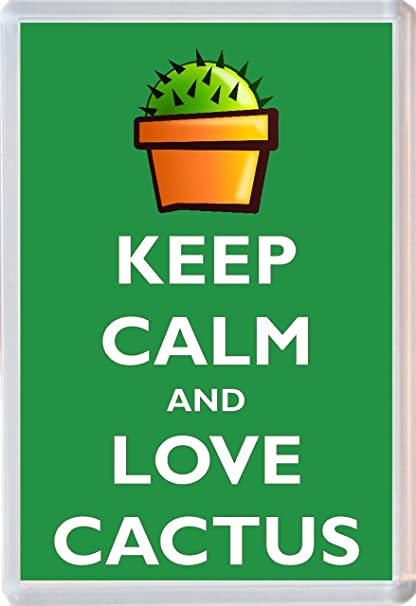 Keep Calm And Love Cactus - Jumbo imán para nevera - Marca nuevo ...