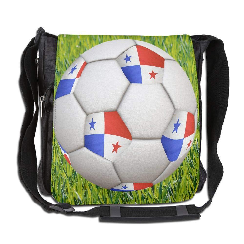 SARA NELL Messenger Bag,Panama Flag Football Design,Unisex Shoulder Backpack Cross-body Sling Bag