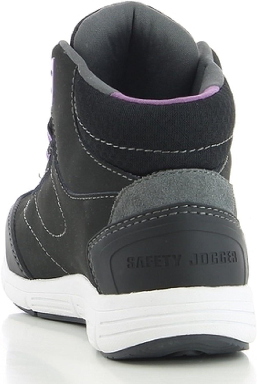 Safety Jogger Beyonce Chaussons montants femme 38 EU Noir//Violet//Blanc