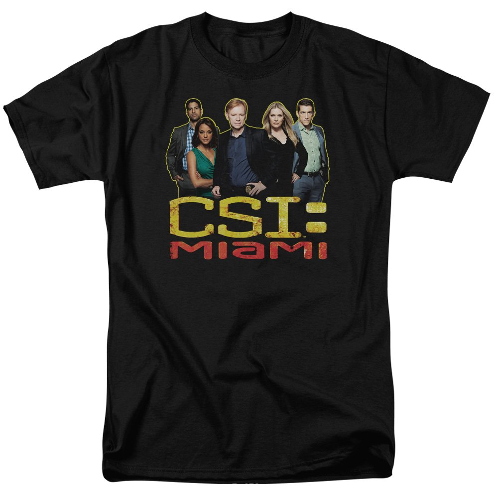 CSI Miami TV Show CBS The Cast in Black Adult T-Shirt Tee