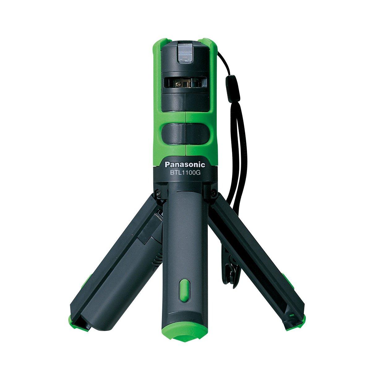 パナソニック(Panasonic) レーザーマーカー 墨出し名人 ケータイ 壁十文字タイプ 回転台 アルミケース 測量器用三脚取付金具付き グリーン BTL1101G B008B0R3OC  グリーン