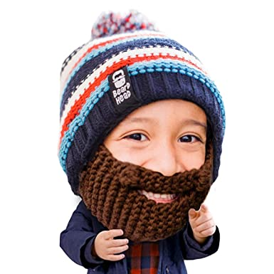 37b328980ae1d Beard Head Kid Gromm Beard Beanie -Knit Hat and Fake Beard for Kids and  Toddlers  Amazon.co.uk  Clothing