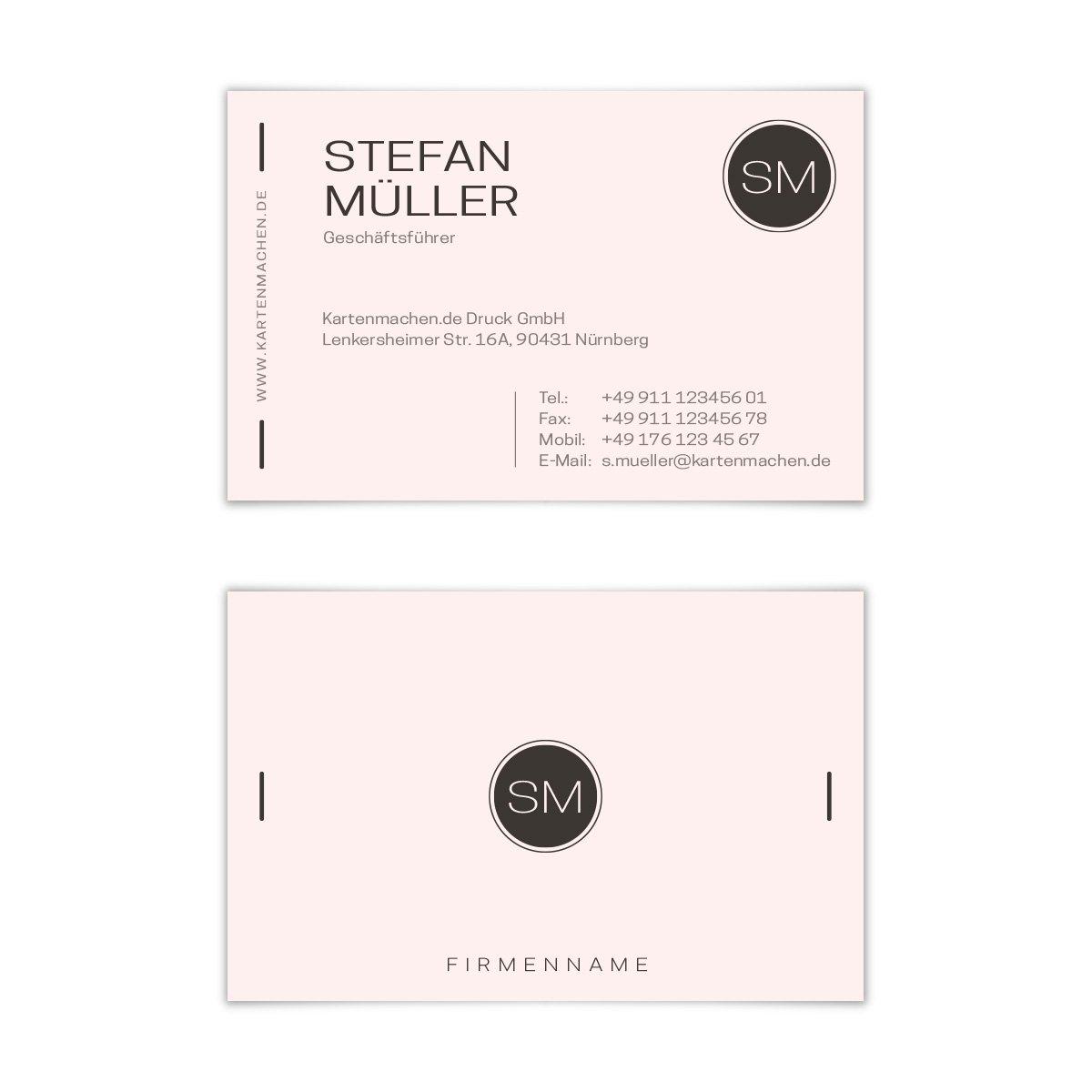 500 x Visitenkarten individuell Business Karten 300g qm 85 x 55 mm - Modern Minimal B07F77TN8J | Verschiedene Waren  | Konzentrieren Sie sich auf das Babyleben  | Eleganter Stil