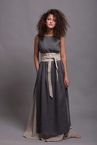 Amazon.com  Long Linen Skirt AIRA - Regular e21593043b8a