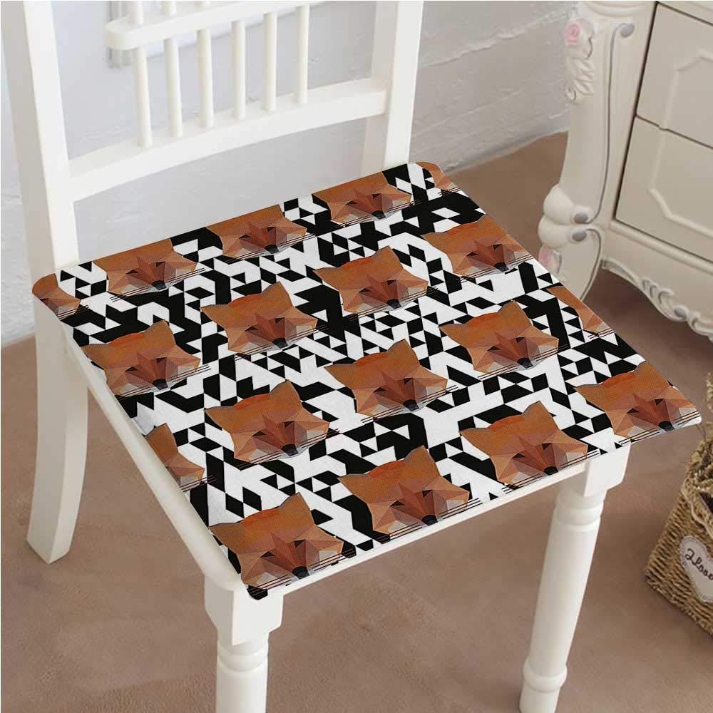 Mikihome クラシック装飾椅子パッドシートバックドロップ フォックスアートプリントクッション メモリー充填 14インチx14インチx2個 26
