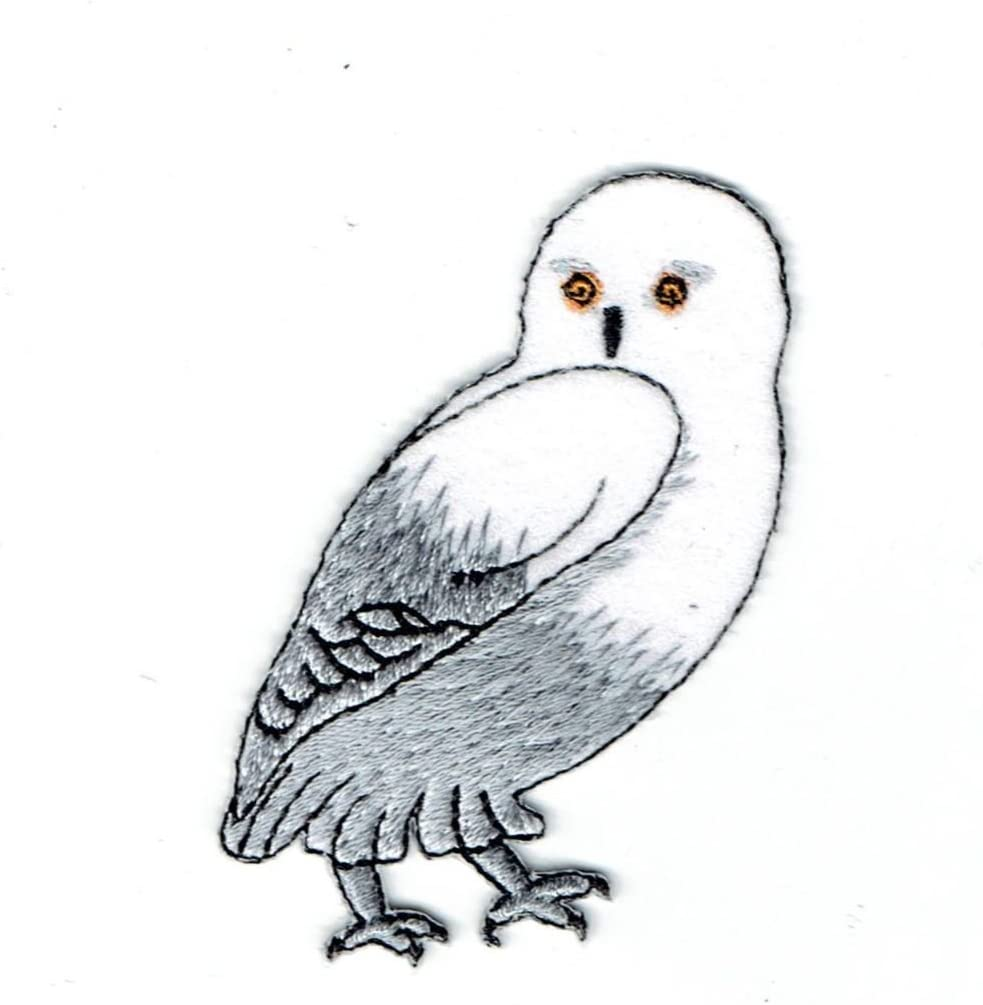Snow Owl Applique Patch Iron on