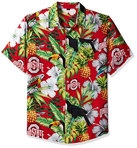 Ohio State Buckeyes Shirts (NCAA Ohio State Buckeyes Foco Floral Button Up Shirt, Team Color, XL)