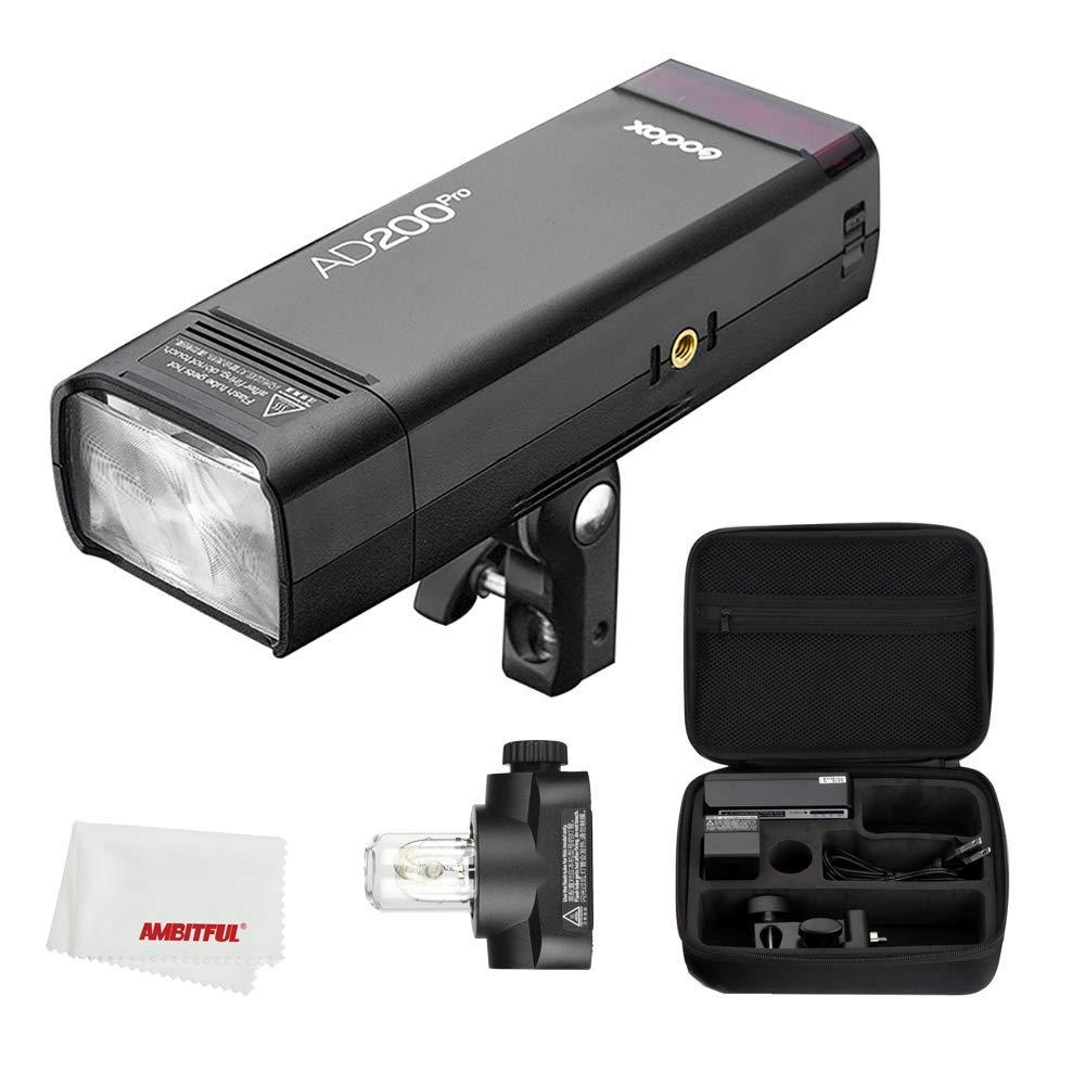 【Godox正規代理】 Godox AD200Pro TTL 2.4G HSS 1/8000sポケットフラッシュ 14.4V / 2900mAhのリチウム電池および 無線制御 高速同期などSony/Canon/Nikon/Olympus/Panasonic/Fujifilm/Pentax など対応   B07RPJ4Z6Y