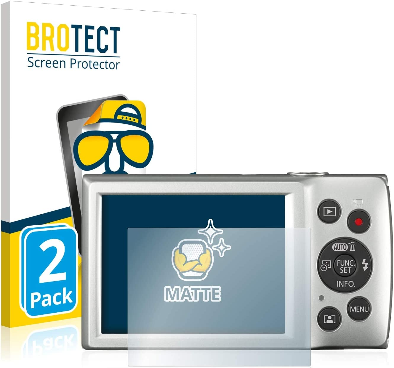Anti-Fingerprint Anti-Reflex BROTECT 2X Entspiegelungs-Schutzfolie kompatibel mit Canon Digital Ixus 185 Displayschutz-Folie Matt