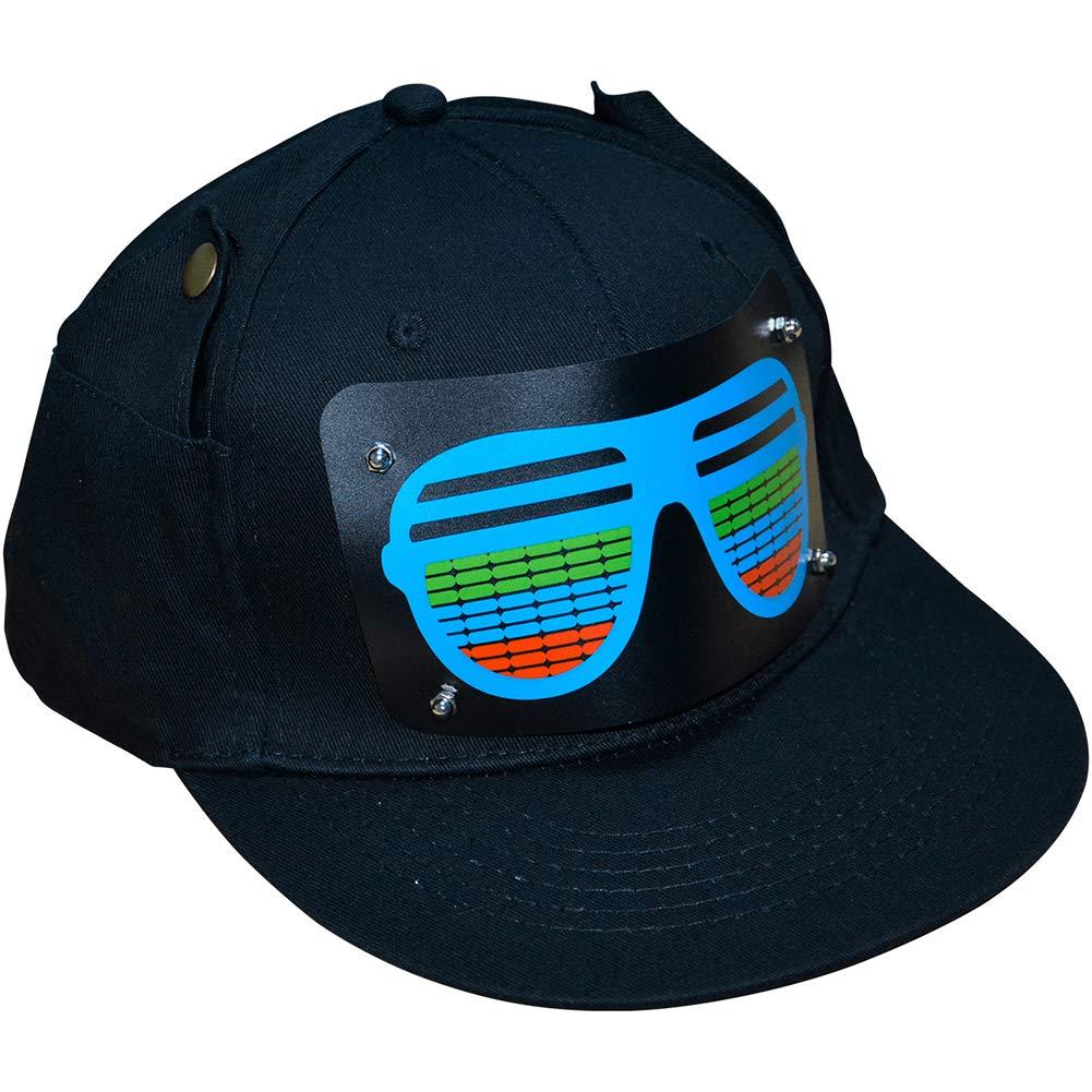 SZCQ LED Glow Baseball Hat,Sound Activated Led Light hat,Prom KTV Night Riding Light hat Cap