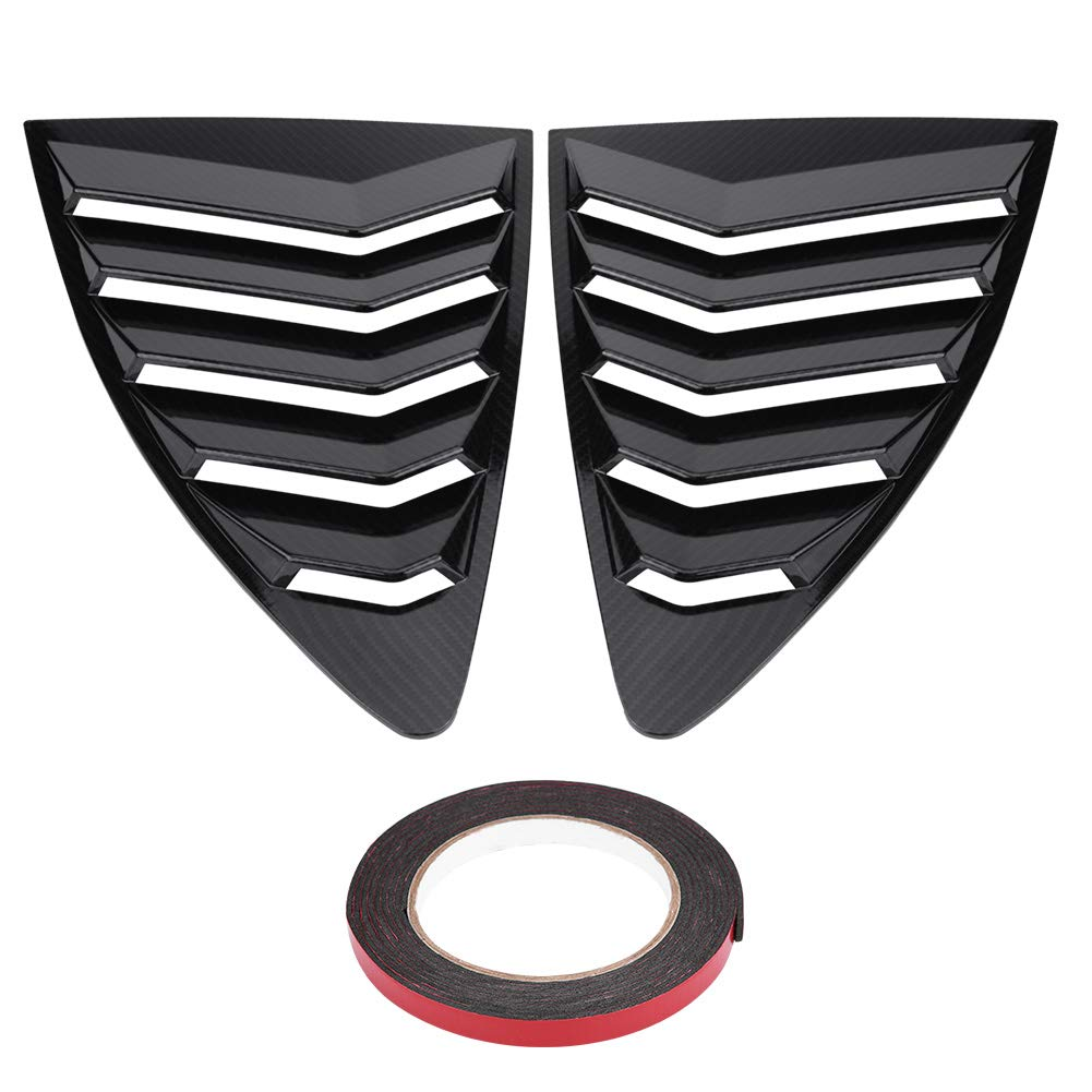 Acouto Left & Right Side Window Louver Vent Cover Trim for Toyota 86/Scion FR-S Subaru BRZ 13-18(Carbon Fiber)