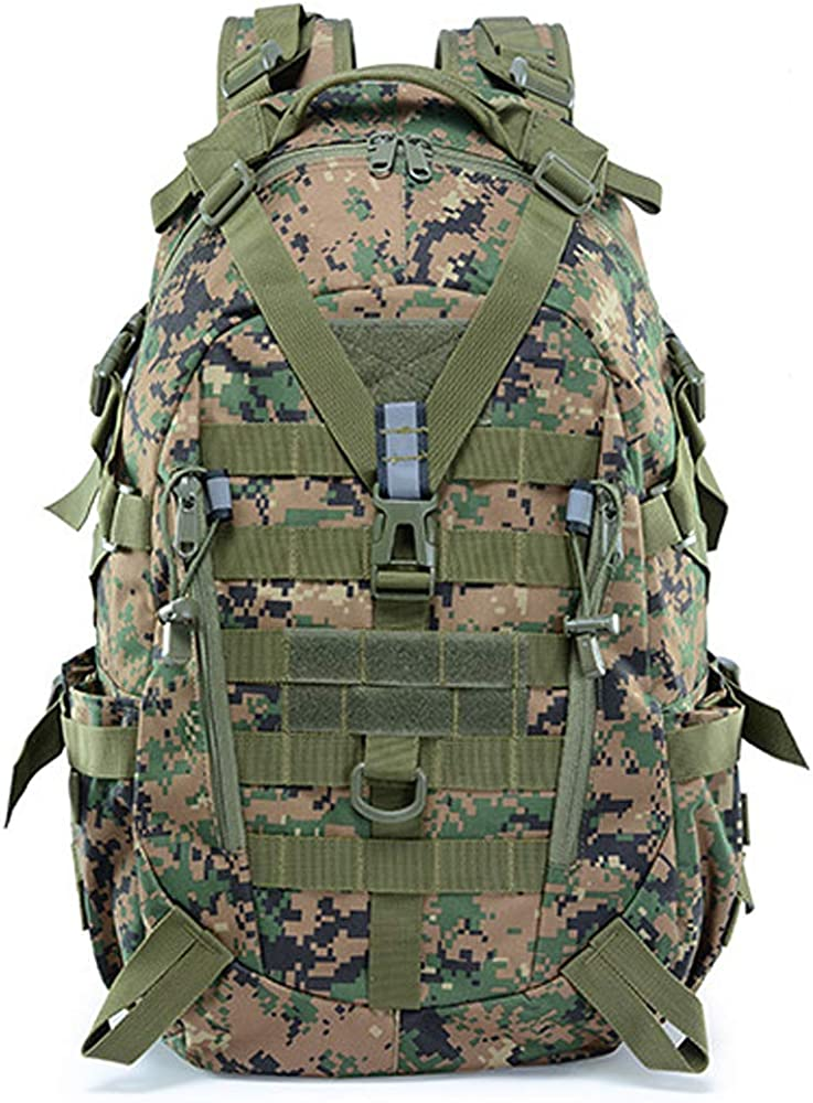 LHI Military Tactical Backpack for Men 35L Army Pack BugOut Bag Molle Rucksack with Reflector