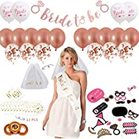 Bachelorette Party Decorations Kit | Bridal Shower Supplies -Bride to Be Banner | Bride to Be Sash | Veil | Photobooth…
