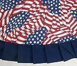 "Patriotic / Fourth of July Tree Skirt, 47"" Flag Print"