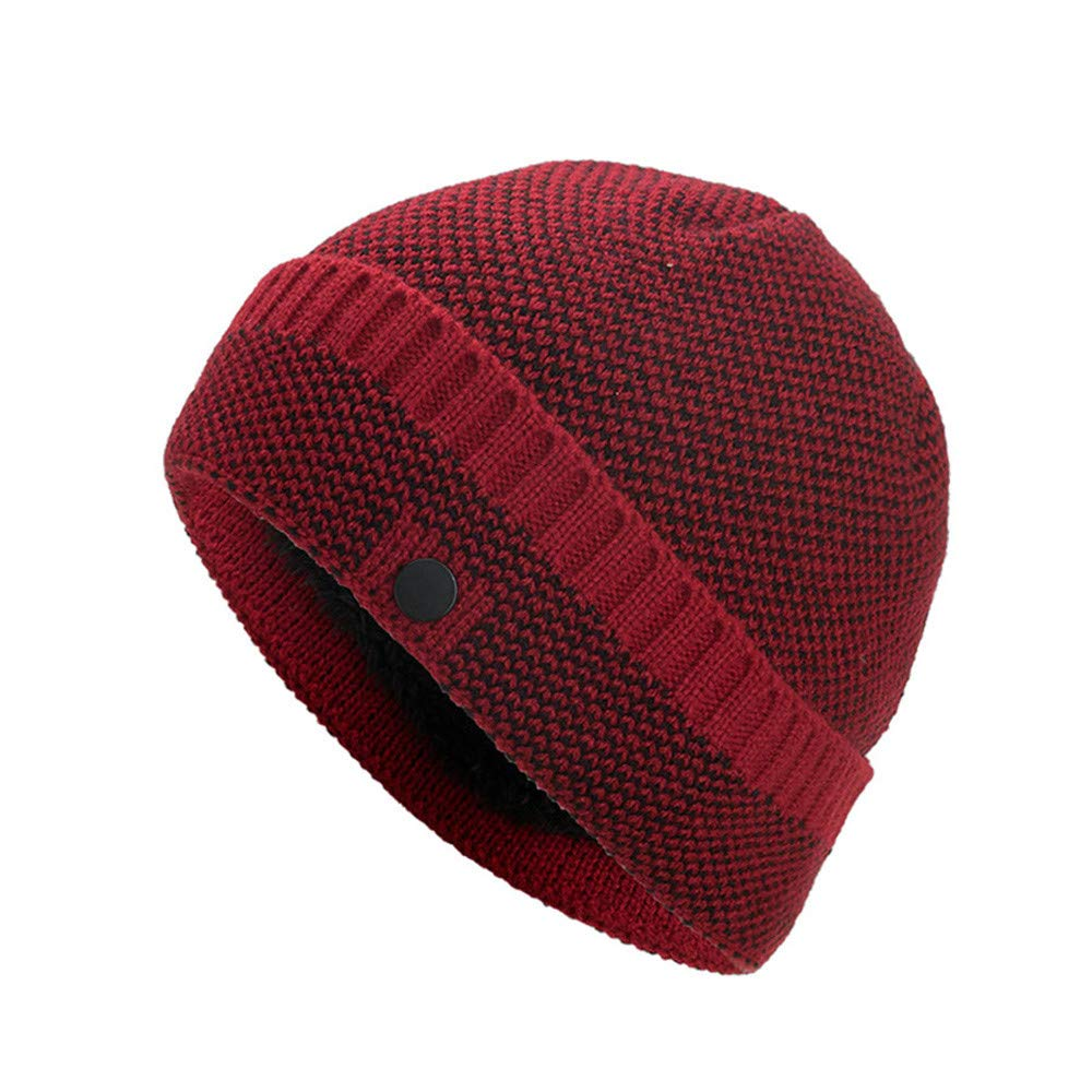 4ce27e31 Amazon.com: Yezijin Confetti Knit Beanie - Thick Soft Warm Winter Hat -  Unisex - Wool Knit Ski Beanie Skull Caps Hat (Black): Clothing