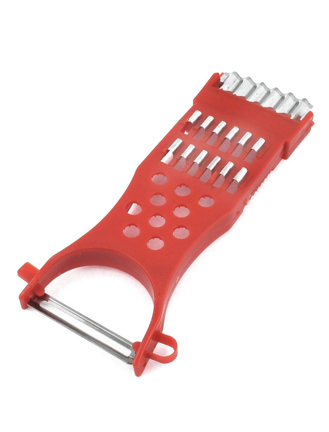 sourcingmap/® Cucina Assistente telaio in plastica metallo Frutta Ortaggi affettatrice sbucciatore Shredder