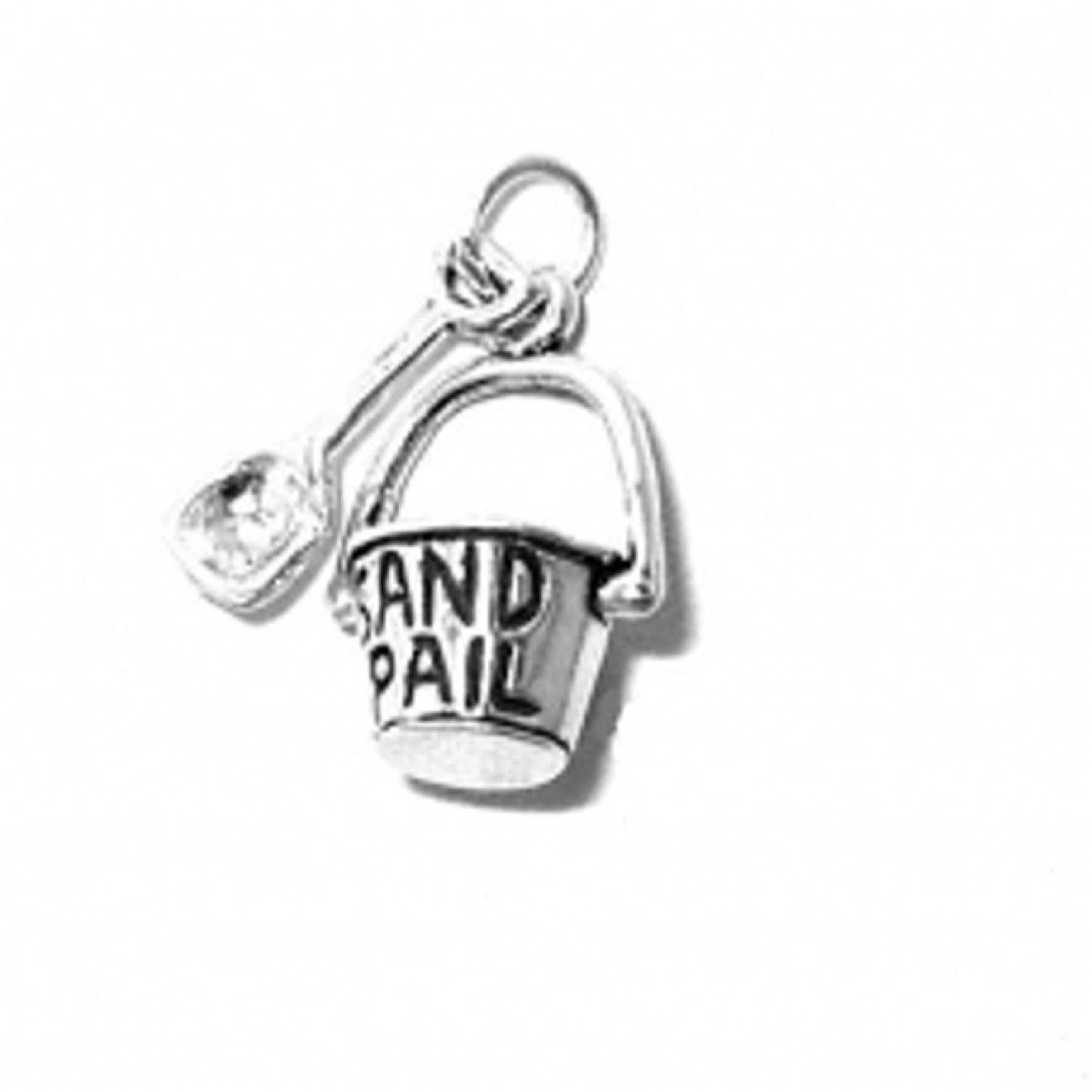 Sterling Silver 7 4.5mm Charm Bracelet With Attached 3D Sand Pail And Shovel Charm