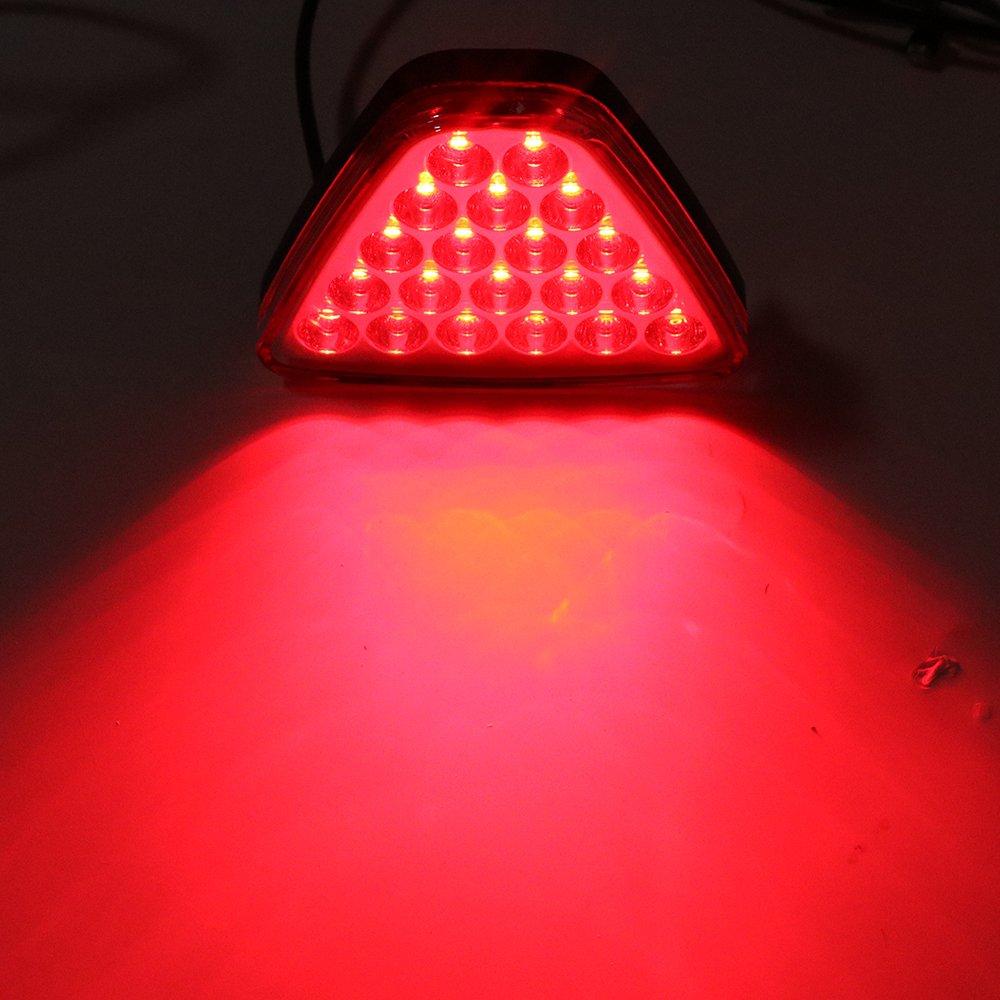 Luz estrobosc/ópica para coche carcasa roja. luz de advertencia luz de freno de coche luz de marcha atr/ás luz LED trasera