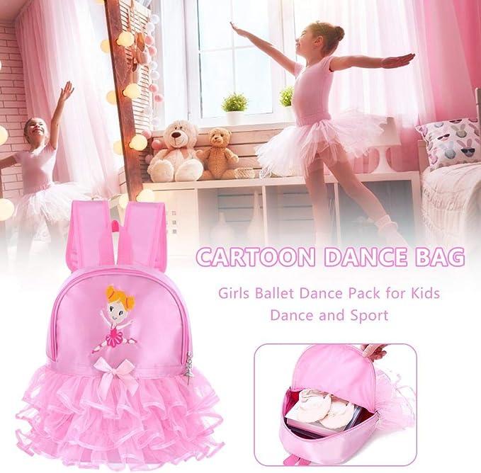 Bolso de ballet para niñas, mochila de ballet para niña, mochila impermeable, bolso de escuela princesa, bolso de baile de bailarina, bolso de baile para niñas: Amazon.es: Hogar