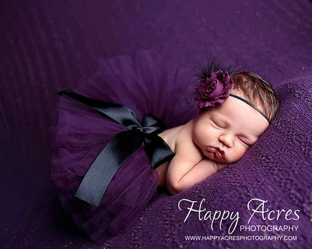Tukistore Recién Nacido Bebé Falda Tutu Ropa Jersey Traje Foto Prop Ropa con Banda para el Cabello XD0000106U