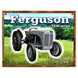 Cheap Wood-Framed Ferguson Metal Sign: Country Home Decor Wall Accent for kitchen on reclaimed, rustic wood