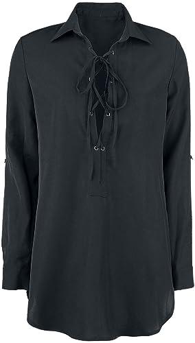 ForPlay Camisa Túnica Camisa Mujer Negro