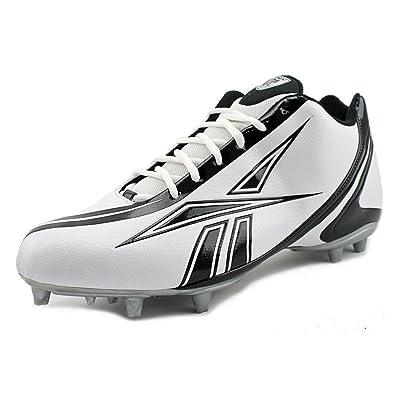 Reebok Men's NFL Burner Speed 5/8 Football Cleat,White/Black,12.5