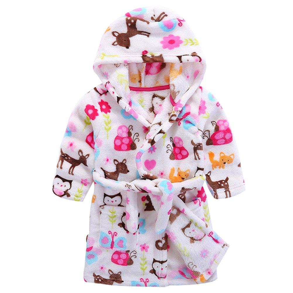 Baby Boy Girl Plush Bathrobe Infant Hooded Robe Tower LZ-TZ-445