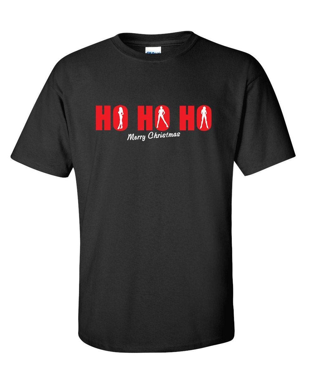 Ho Ho Ho Merry Christmas Funny Tshirt Ps_0618w Christmas Adult Seasonal Sex Holiday Fun S