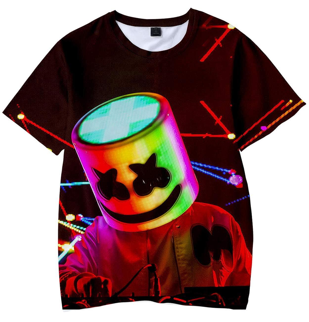 Camiseta para Niños 3D Impresión Gráfica Marshmello DJ Cool Hip ...