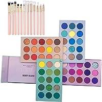 Bestnice 60 Colors Eyeshadow Palette, 4 in 1 Color Board Makeup Palette Set with makeup brush set Highly Pigmented…