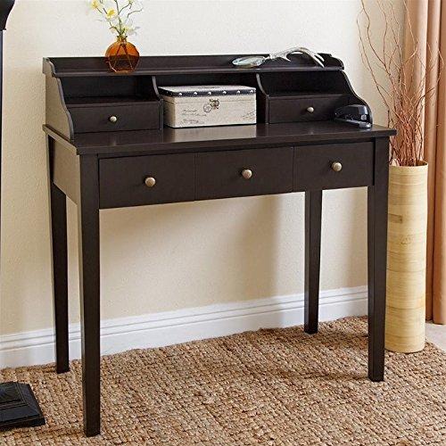 Abbyson® Brea Secretary Writing Desk, Espresso (Black Secretary Desk)